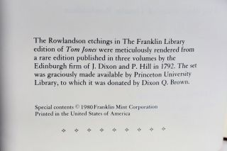 The History Of Tom Jones A Foundling