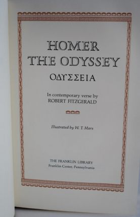 Homer The Odyssey Franklin Library