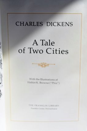 Charles Dickens A Tale Of Two Cities Franklin Library 1983